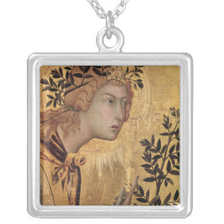The Annunciation with St. Margaret Silver Plated Necklace