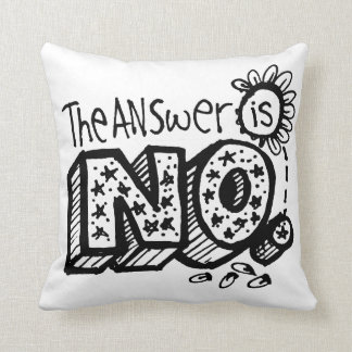 The Answer Is Yes/No Flip Cushion
