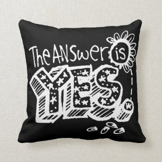 The Answer Is Yes/No Flip Dark Cushion
