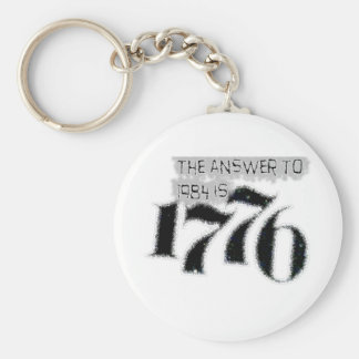 The Answer to 1984 is 1776 Basic Round Button Key Ring