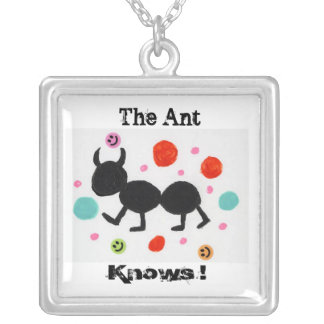 The Ant, Knows ! Silver Plated Necklace