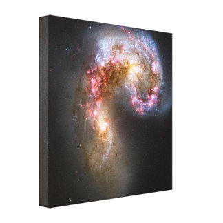 The Antennae Galaxies Stretched Canvas Print