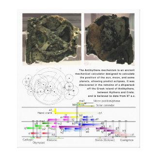 The Antikythera Mechanism Diagram Chart Canvas Print