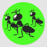 The Ants Go Marching - Add Your Own Text! Round Sticker