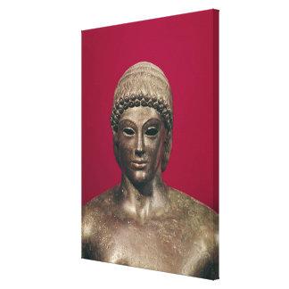 The Apollo of Piombino, head of the statue, found Canvas Print