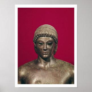 The Apollo of Piombino, head of the statue, found Poster
