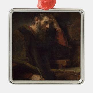 The Apostle Paul, c.1657 (oil on canvas) Silver-Colored Square Decoration