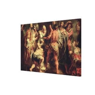 The Apostles, St. Paul and St. Barnabas at Lystra Stretched Canvas Print
