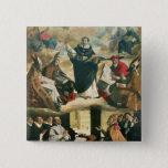 The Apotheosis of St. Thomas Aquinas, 1631 15 Cm Square Badge