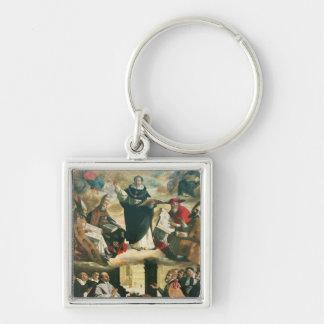 The Apotheosis of St. Thomas Aquinas, 1631 Silver-Colored Square Key Ring