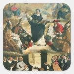 The Apotheosis of St. Thomas Aquinas, 1631 Square Sticker