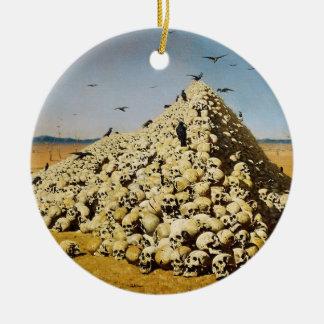 The Apotheosis of War by Vasily V. Vereshchagin Christmas Tree Ornament