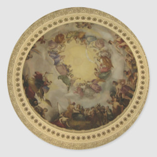 The Apotheosis of Washington Capitol Rotunda Classic Round Sticker