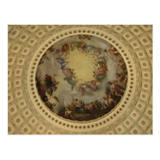 The Apotheosis of Washington Capitol Rotunda Postcard
