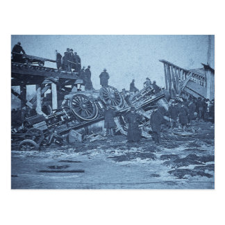 The Appalling Accident at Farmington River Cyan 2 Postcard