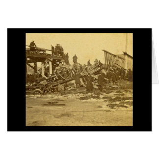 The Appalling Accident at Farmington River (Sepia) Greeting Card