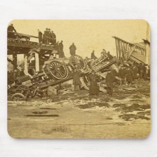 The Appalling Accident at Farmington River (Sepia) Mouse Pad
