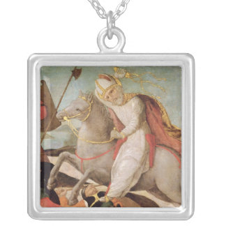 The Apparition of St. Ambrose Silver Plated Necklace