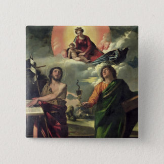 The Apparition of the Virgin to the Saints John th 15 Cm Square Badge