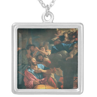 The Apparition of Virgin the St. James the Silver Plated Necklace