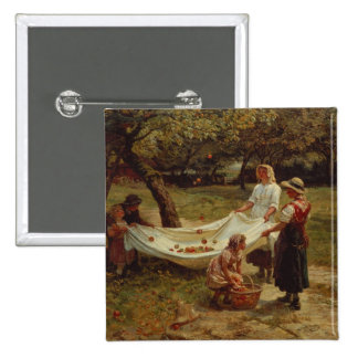 The Apple Gatherers, 1880 15 Cm Square Badge