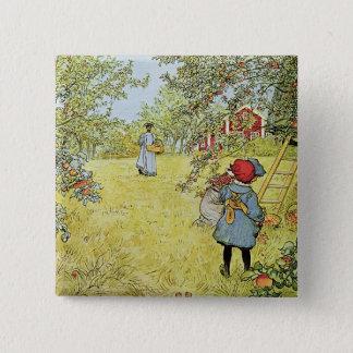 The Apple Harvest 15 Cm Square Badge