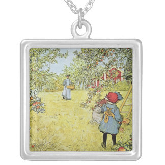 The Apple Harvest Silver Plated Necklace