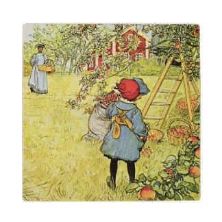 The Apple Harvest Wood Coaster
