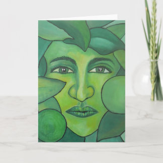 The Apple Lady Greetings Card
