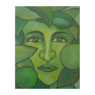 The Apple Lady Wood Wall Art Wood Prints
