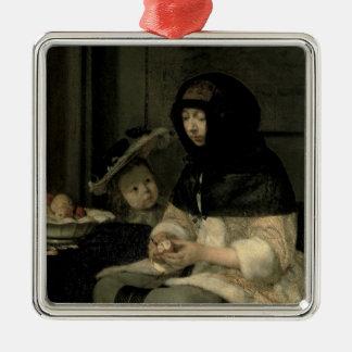 The Apple Peeler, 1660 Christmas Ornament