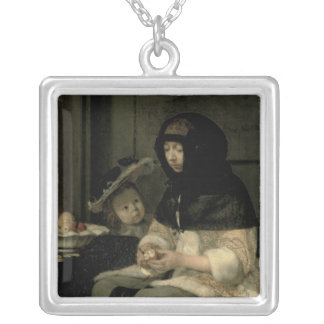 The Apple Peeler, 1660 Silver Plated Necklace