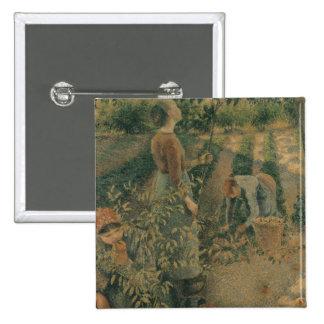 The Apple Pickers, 1886 15 Cm Square Badge