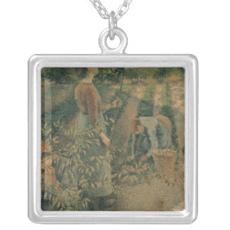 The Apple Pickers, 1886 Silver Plated Necklace