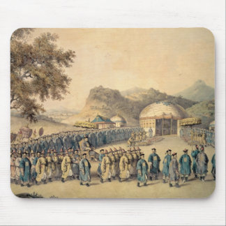 The Approach of the Emperor of China Mouse Mat
