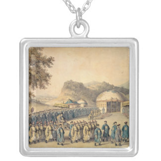 The Approach of the Emperor of China Silver Plated Necklace