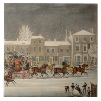 The Approach to Christmas, engraved by George Hunt Tile