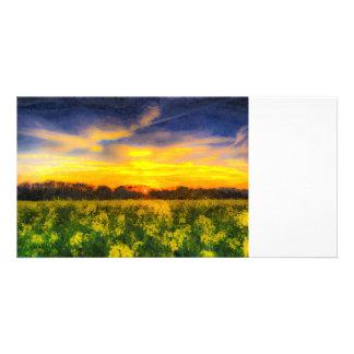The April Farm Art Photo Card Template