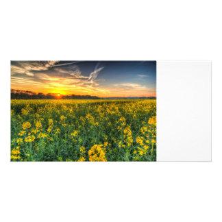 The April Farm Photo Card Template