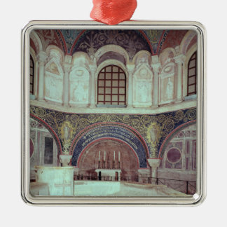 The apse with the baptismal font christmas ornament