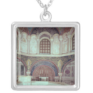 The apse with the baptismal font silver plated necklace