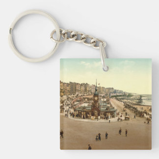 The Aquarium, Brighton, England Double-Sided Square Acrylic Key Ring
