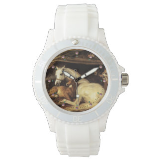 THE ARAB TENT WITH HORSES AND OTHER ANIMALS WRIST WATCH