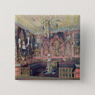 The Arabian Hall in the Catherine Palace 0 15 Cm Square Badge