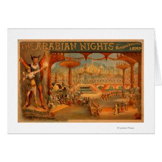 The Arabian Nights - Aladdin s Wonderful Lamp Greeting Cards