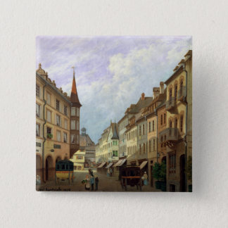 The Arcades, Grand Rue, Colmar, 1876 15 Cm Square Badge