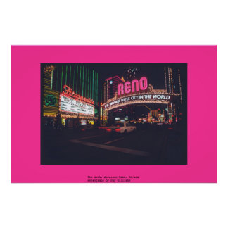 The Arch, downtown Reno, Nevada Poster