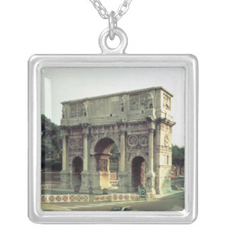 The Arch of Constantine from the North West Silver Plated Necklace