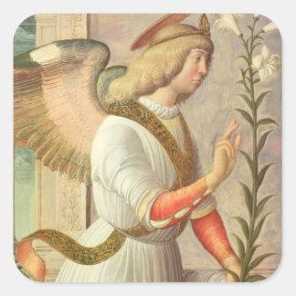 The Archangel Gabriel panel Square Sticker