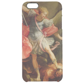 The Archangel Michael defeating Satan Clear iPhone 6 Plus Case